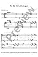 God Is Born Among Us Vocal SATB & Organ additional images 1 2