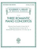 Three Romantic Piano Concertos: Greig/Schuman/Rachmaninoff (Schirmer) additional images 1 2