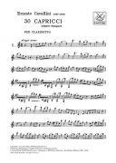 30 Caprices (30 Capricci): Clarinet Solo (Ricordi) additional images 1 2