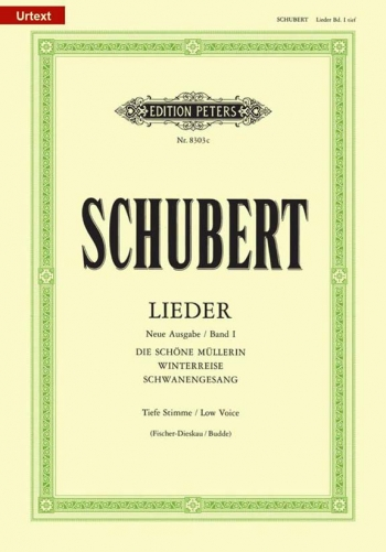Lieder (Songs) Vol.1 Low Voice & Piano (Peters)