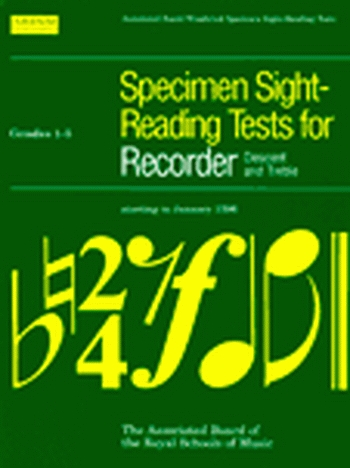 ABRSM Specimen Sight-reading Tests: Descant and Treble Recorder: Grade 1-5