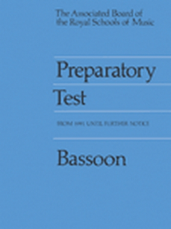 ABRSM Prep Test For Bassoon