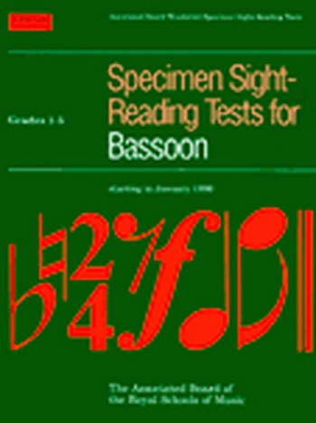 ABRSM Specimen Sight-reading Tests Bassoon: Grade 1-5