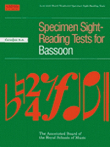 ABRSM Specimen Sight-reading Tests Bassoon: Grade 6-8