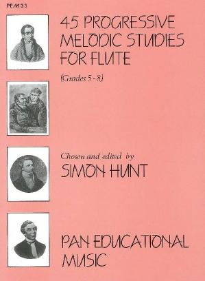 45 Progressive Studies: Flute (Hunt)