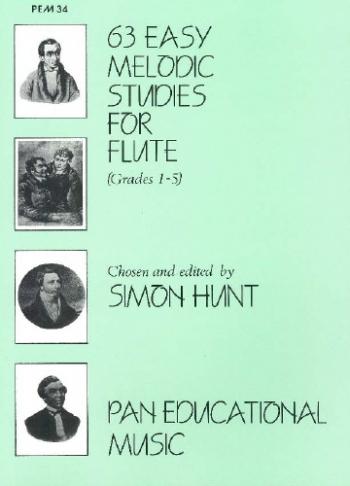 63 Easy Melodic Studies: Flute (Hunt)
