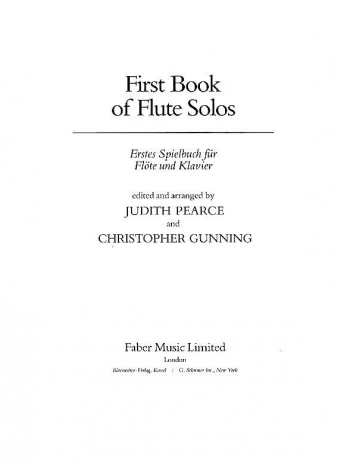 First Book Of Flute Solos: Flute & Part Only (Pearce & Gunning)