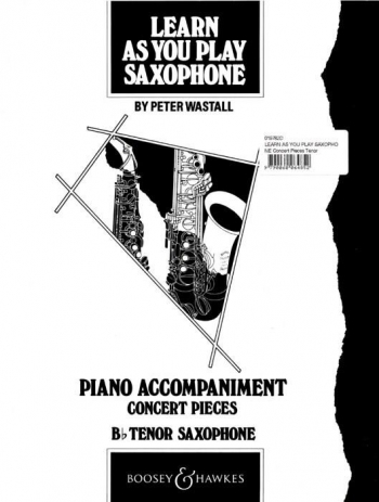 Learn As You Play Saxophone: Tenor Saxophone: Piano Accompaniment