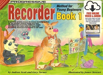 Progressive Recorder Method For Young Beginner: Book 1 Book & Online Audio & Video