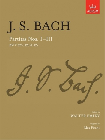 Partitas: No.1-3: Piano (ABRSM)