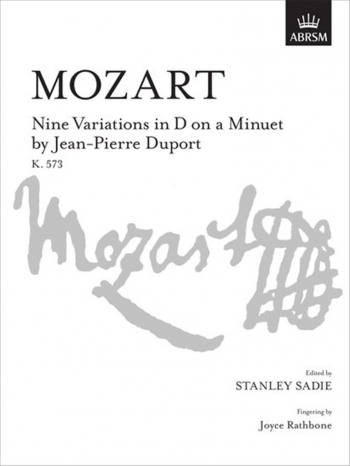 9 Variations In D On A Minuet By Duport K573: Piano (ABRSM)