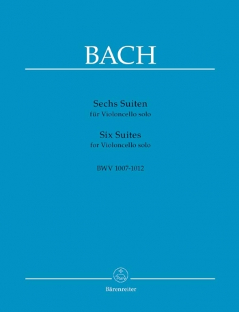 6 Cello Suites Bwv10071012: Cello Solo (Barenreiter)