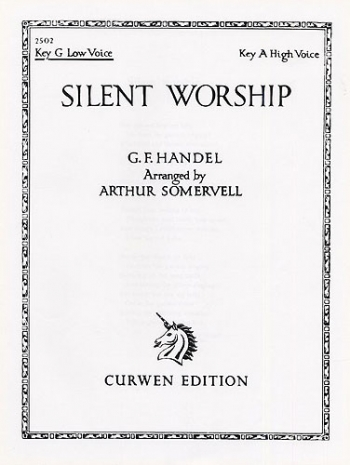 Silent Worship: G Major: Low Voice And Piano (Curwen)