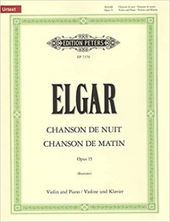 Chanson Du Matin And Chanson Du Nuit: Violin and Piano (Peters)
