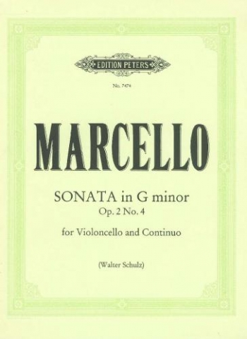 Sonata G Minor Op2 No.4: Cello & Piano (Peters)