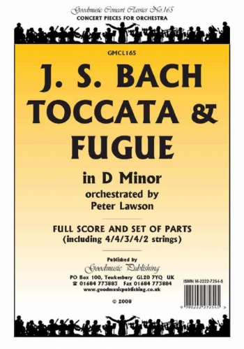 Orch: J S Bach: Toccata and Fugue D Minor: Orchestra: Scandpts