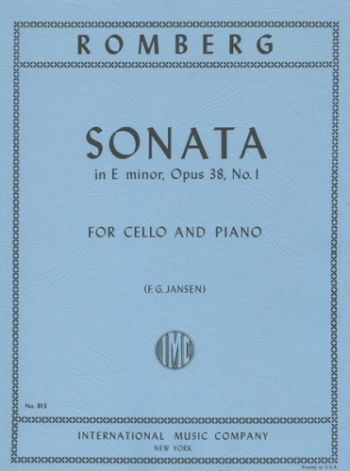Sonata E Minor Op.38/1 Cello & Piano (International)