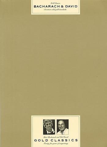 Burt Bacharach: Gold Classics: Piano Vocal Guitar