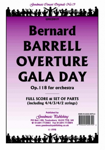 Orch/barrell/overture Gala Day Op118/orchestra/scandpts