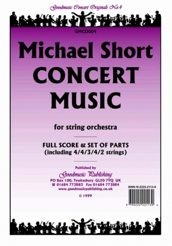 Orch/short/concert Music/string Orchestra/scandpts