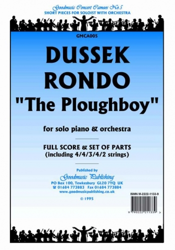 Orch/dussek/rondo The Ploughboy/orchestra/scandpts