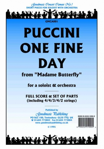 Orch/puccini/one Fine Day From Madame Butterfly/orchestra/scandpts