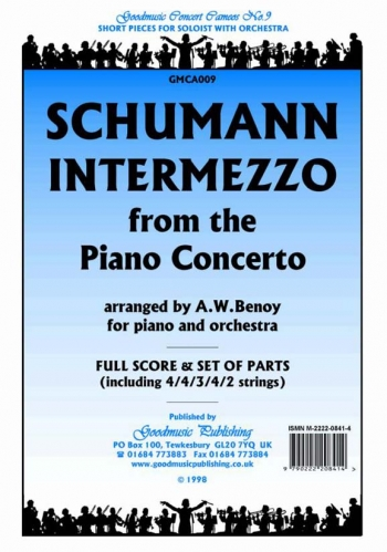 Orch/schumann/intermezzo From The Piano Concerto/orchestra/scandpts