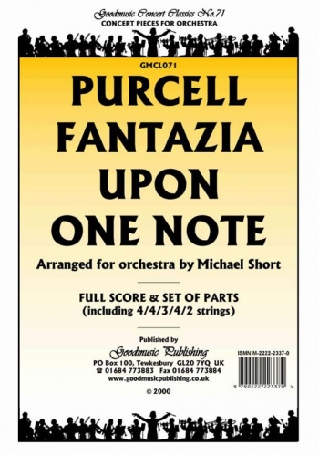 Orch/purcell/fantazia Upon One Note/orchestra/scandpts