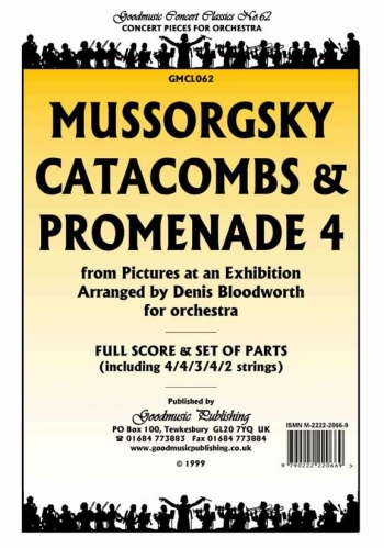 Orch/mussorgsky/catacombs and Promenade 4 From Pictures At An Exhibi/orchestra/scandpts