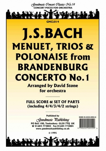 Orch/bach/menuet, Trios and Polonaise From Brandenburg Concert/orchestra/scandpts