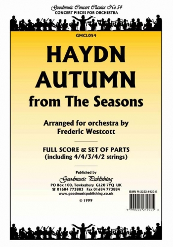 Orch/haydn/autumn From The Seasons/orchestra/scandpts