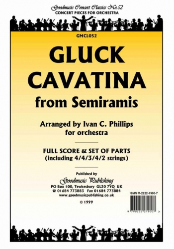 Orch/gluck/cavatina From Semiramis/orchestra/scandpts