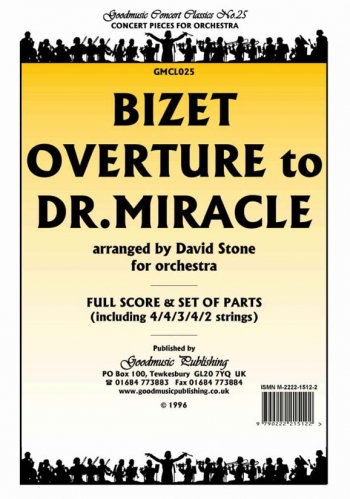 Orch/bizet/overture To Dr Miracle/orchestra/scandpts