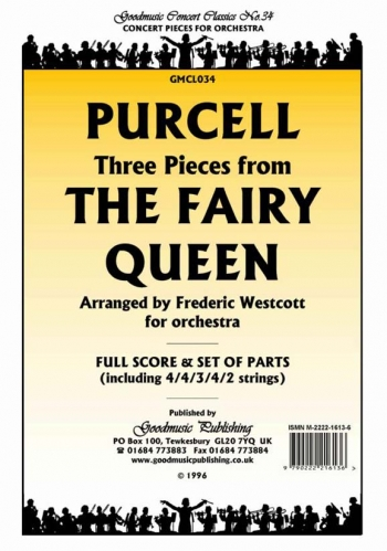 Orch/purcell/3 Pieces From The Fairy Queen/orchestra/scandpts