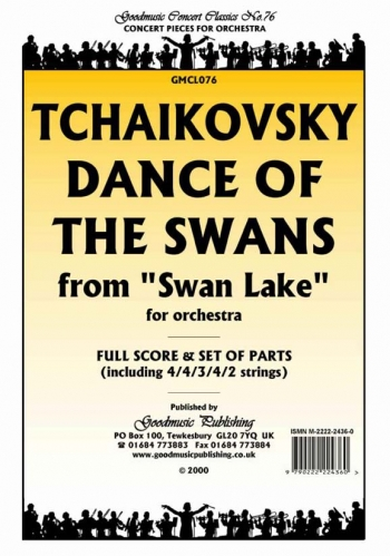 Orch/tchaikovsky/dance Of The Swans From Swan Lake/orchestra/score