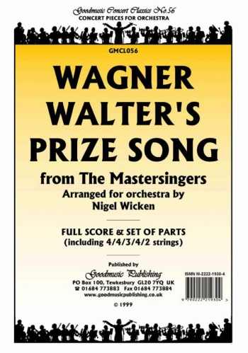 Orch/wagner/walters Prize Song From The Mastersingers/orchestra/scandpts