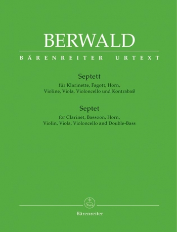 Berwald: Septett: Septet: Parts Only (Clarinet Bassoon Horn Viola Cello and Bass)