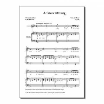 Gaelic Blessing: Vocal: Unison & Piano