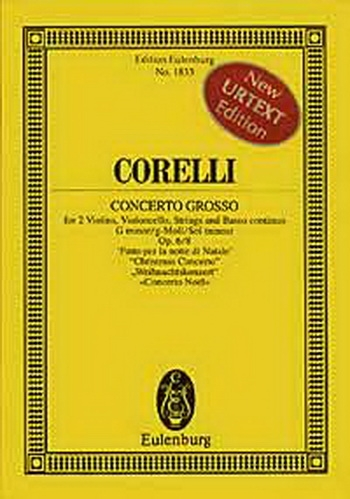 Christmas Concerto G Minor Op6: 8: Concerto Grosso: Miniature Score