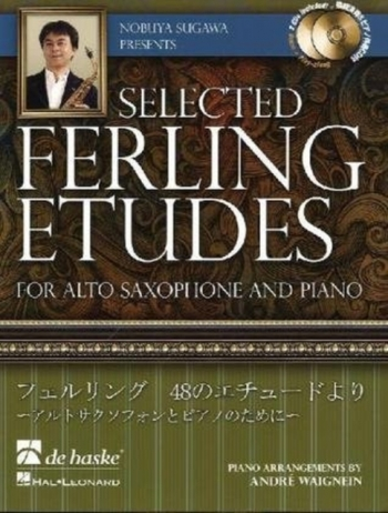 Selected Ferling Studies - Alto Saxophone & Piano - Bk&cd (Nubuya Sugawa)