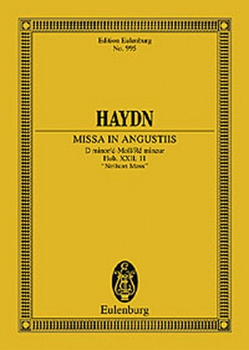 Nelson Mass In D Minor Hob. Xxii: 11: Choir And Orchestra: Miniature Score