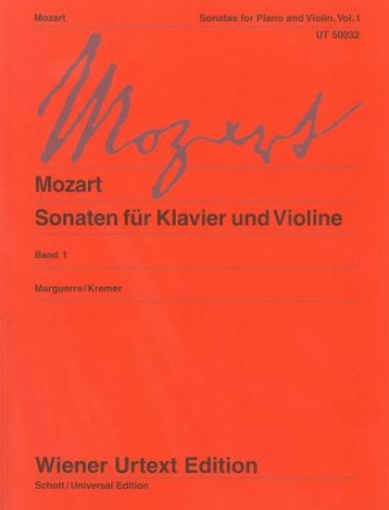 Sonatas: 1: K296-377: Violin and Piano  (Wiener Urtext)