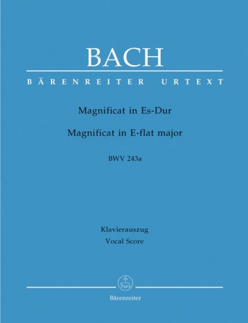Magnificat In Eb Major: Bwv243A: Vocal Score  (Barenreiter)