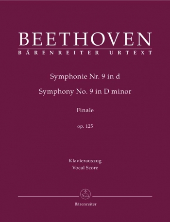 Symphony No.9 D Minor Op125: Vocal Score (Barenreiter)