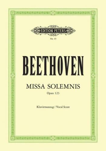 Missa Solemnis Op.123: Vocal Score (Peters)