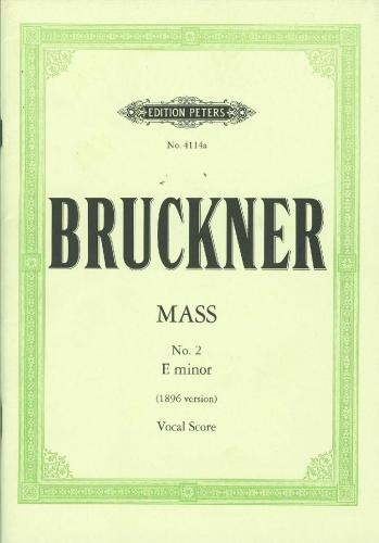 Mass In E Minor (1896 Version): Vocal Score