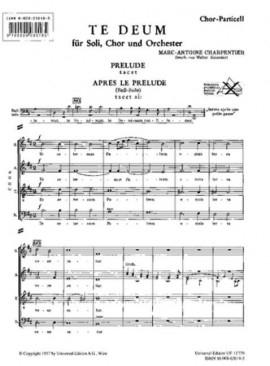 Te Deum: Vocal: Choral Score  (Universal)