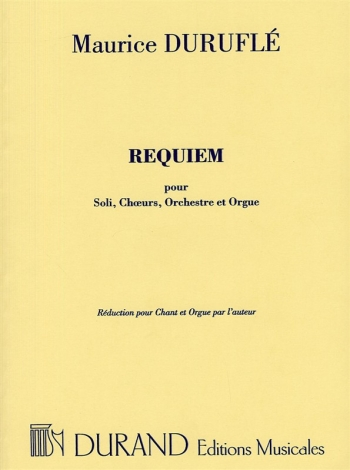 Requiem Op.9: Vocal Score  (Durand)