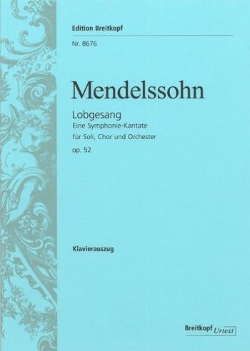 Lobgesang Op52: Vocal Score (Breitkopf)