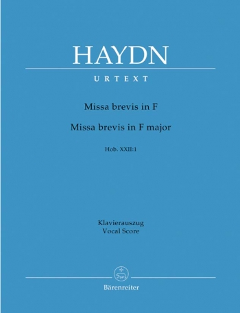 Missa Brevis In F Major Hob. Xxii:  1: Vocal Score (Barenreiter)